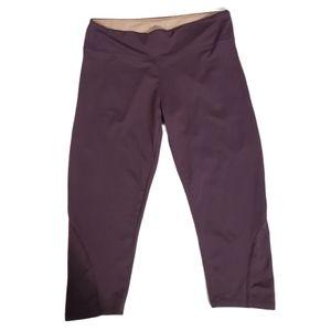 Marika Tek Plum Purple Cropped Active Wear Pants M